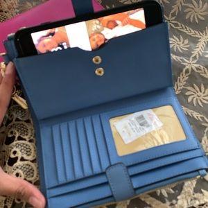 🦋 new MK double zipper wallet